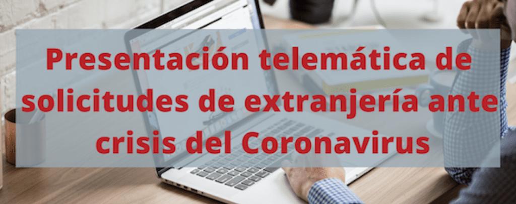 Abogado extranjería Coronavirus